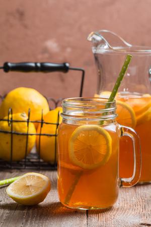 jar of lemon ice tea