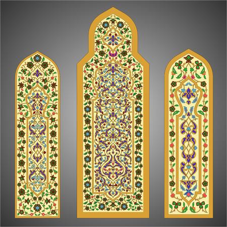 Gebrandschilderde ramen met bloemenornament