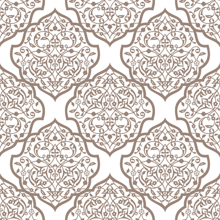 middle: Oriental seamless pattern of mandalas. Illustration