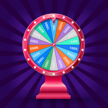 Wheel of fortune isolated Illustration
