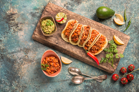 haricot: Mexican tacos with meat