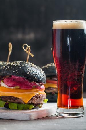 Gourmet black burger