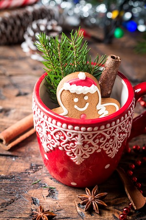 christmas decorations with gingerbread man stock photo 85209433