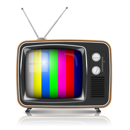 벡터 색상 프레임 레트로 TV