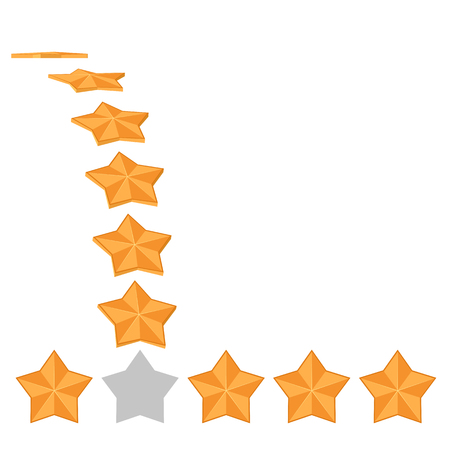 Five star rating. Different ranks
