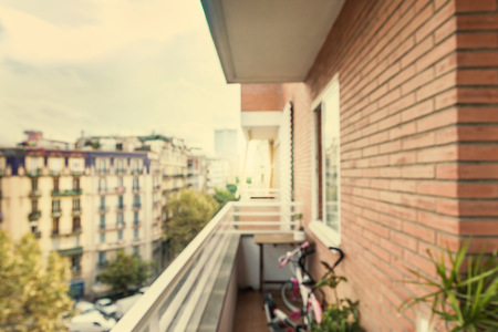 unfocus view from balcony Stock Photo