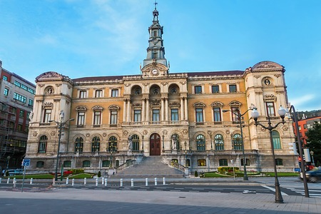 City Hall in Bilbao, Biscay Editorial