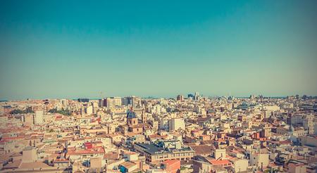 Aerial view of the Valencia Фото со стока