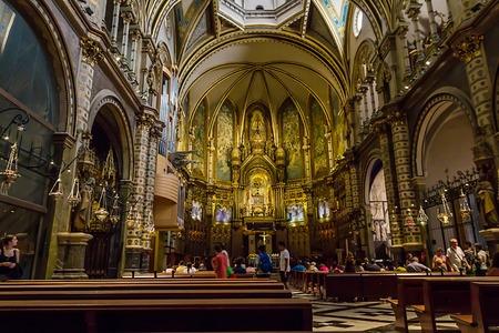 Interior of the Church of Montserrat.