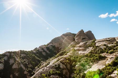 The Mountain of Montserrat Stock Photo