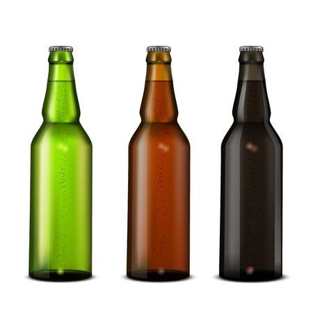 Beer bottles set.