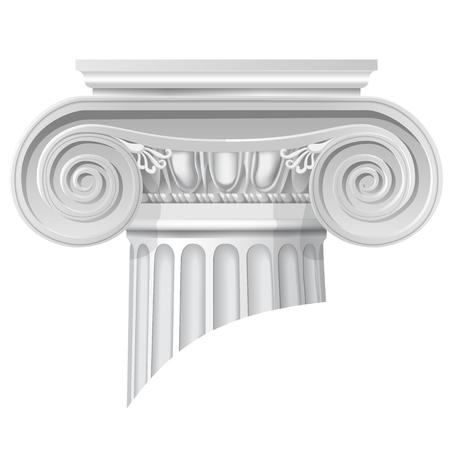 Vector illustratie van architecturaal klassiek orde ionisch kapitaal. Stock Illustratie
