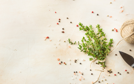 Close up view of thyme bunch