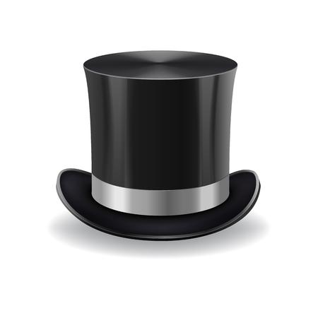 black gentleman hat Иллюстрация