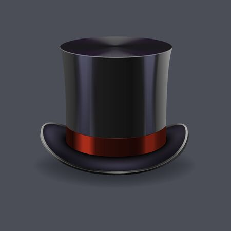 black gentleman hat Иллюстрация