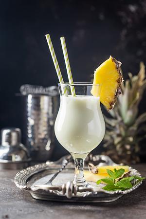 Frozen Pina Colada Cocktail Stock Photo