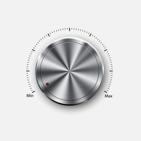 dial knob level Vector illustration.