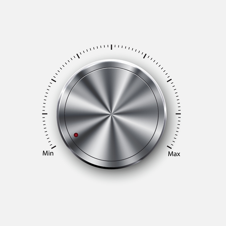 dial knob level Vector illustration.