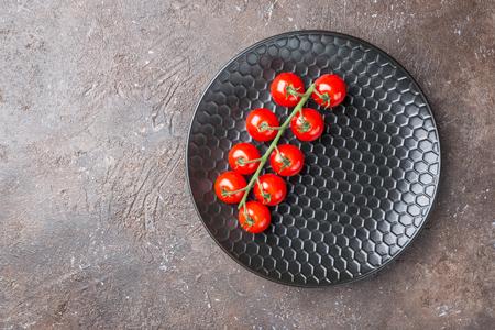 Empty black plate 免版税图像