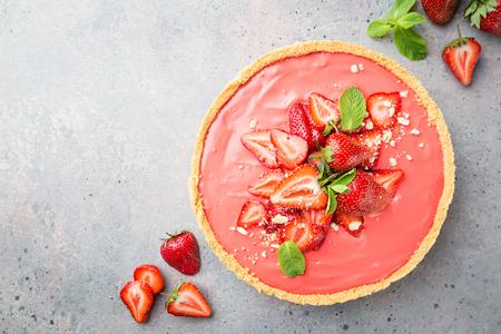 Tart with strawberries Stock fotó