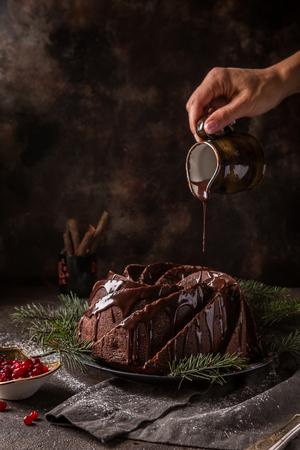 Gingerbread Bundt Cake Stock Photo