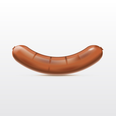 Sausage on a white background. Vector illustration Ilustrace