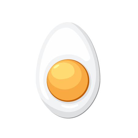 Cartoon egg isolated on white background. boiled, half, sliced eggs. Vector illustration Stock Illustration - 105452887