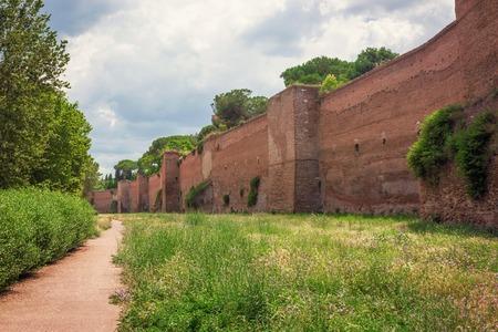 Aurelian Walls in Rome, Italy.