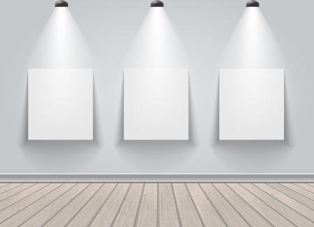 Gallery exhibition interior.