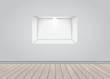 Vector de nicho vacío Foto de archivo