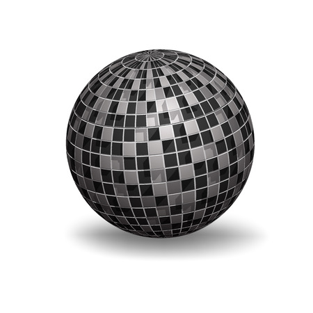 White 3D Sphere with Mapped Black and White pattern Texture - Vector Illustration