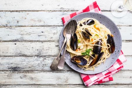 Pasta with seafood Reklamní fotografie