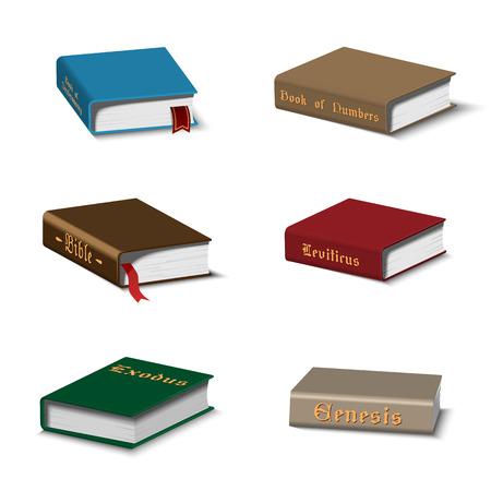 Ensemble de livres sacrés Vecteurs