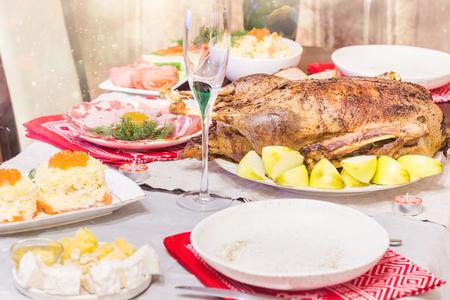 Christmas roast duck