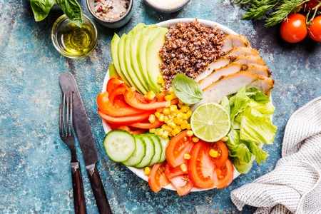 Healthy salad bowl 스톡 콘텐츠