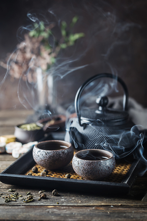 Healthy green tea Reklamní fotografie
