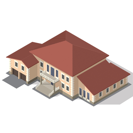 Cottage, House for real estate Isometric Vector EPS10