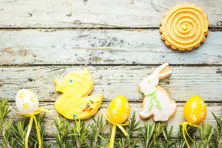 Easter homemade gingerbread cookie Reklamní fotografie