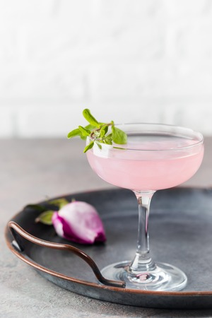 Light pink rose cocktail