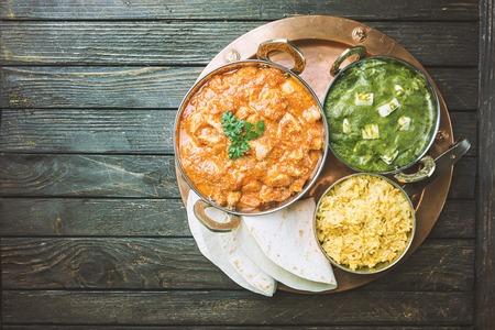 Assorted indian food Фото со стока