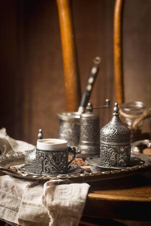 Turkish black coffee 免版税图像