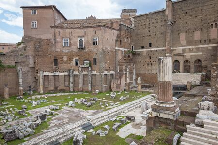 Roman Imperial forum Stock Photo