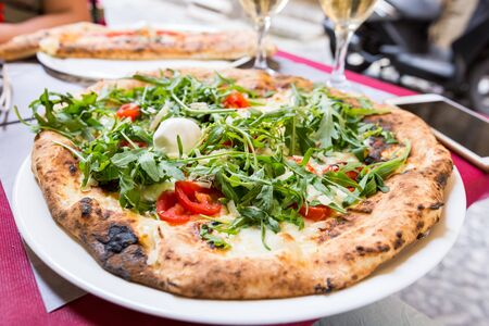 Italian pizza with arugula