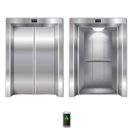 Portes d'ascenseur ouvertes et fermées