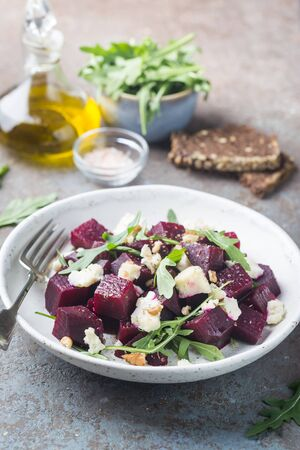 beetroot salad with blue cheese