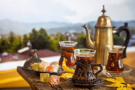Cup of traditional turkish tea
