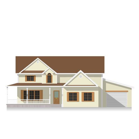 Classical american house Flat icon