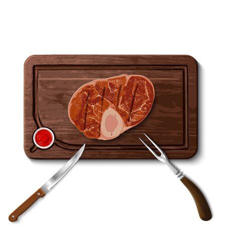 beef steak on cutting board Stock fotó - 142955833