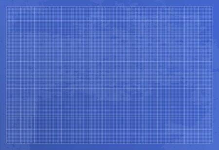 Wide blueprint background texture. Vector illustration. 10 line per square