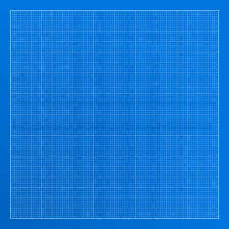 Blueprint background texture. Vector illustration. 10 line per square
